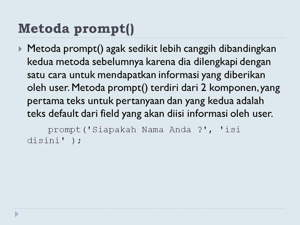 Metoda prompt()