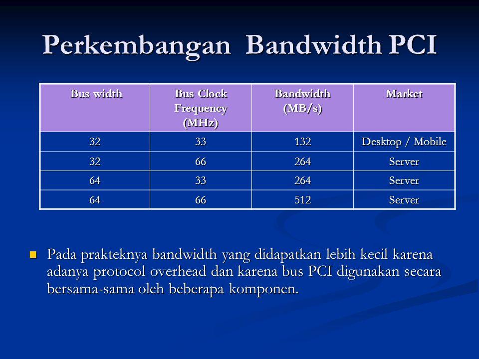 Perkembangan Bandwidth PCI
