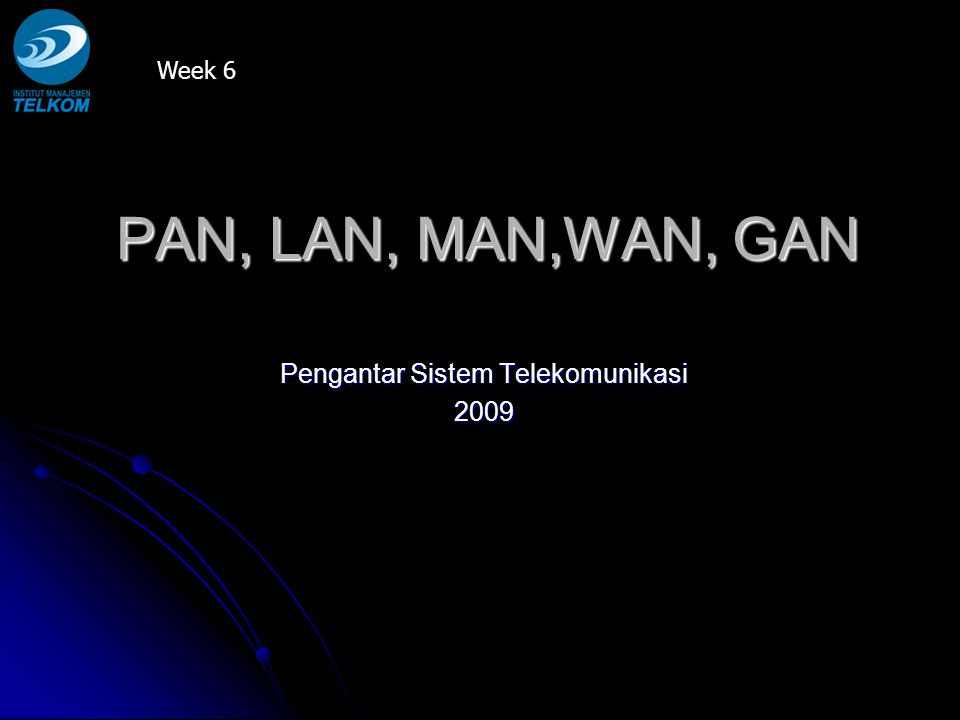 Pengantar Sistem Telekomunikasi 2009