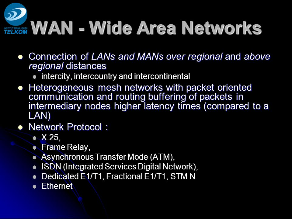 WAN - Wide Area Networks