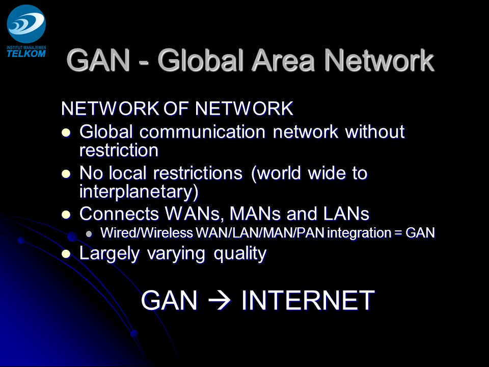 GAN - Global Area Network