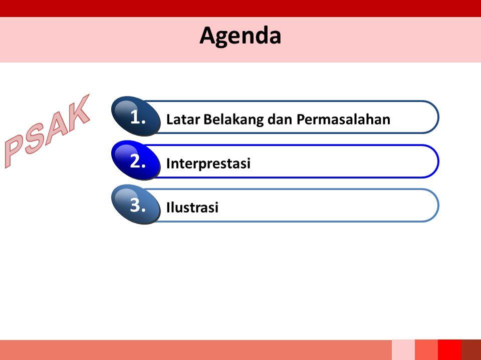 PSAK Agenda 1. 2. 3. Latar Belakang dan Permasalahan Interprestasi