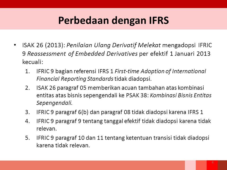 Perbedaan dengan IFRS