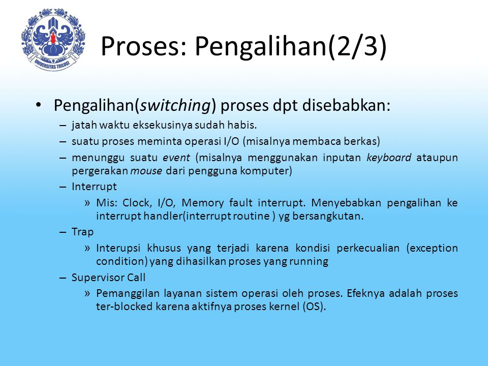 Proses: Pengalihan(2/3)