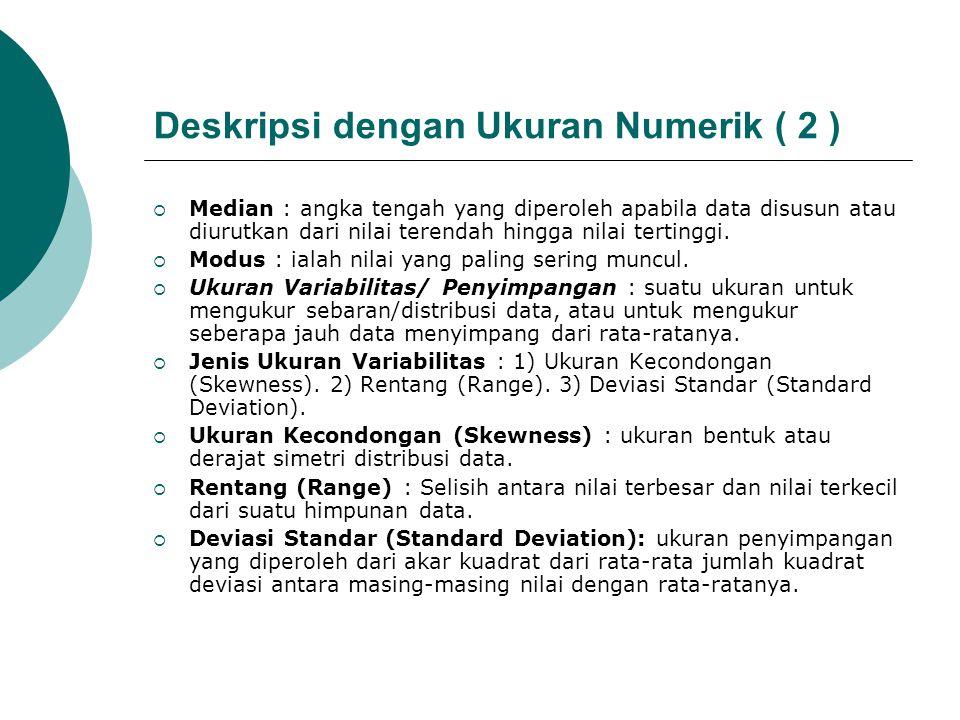 Deskripsi dengan Ukuran Numerik ( 2 )