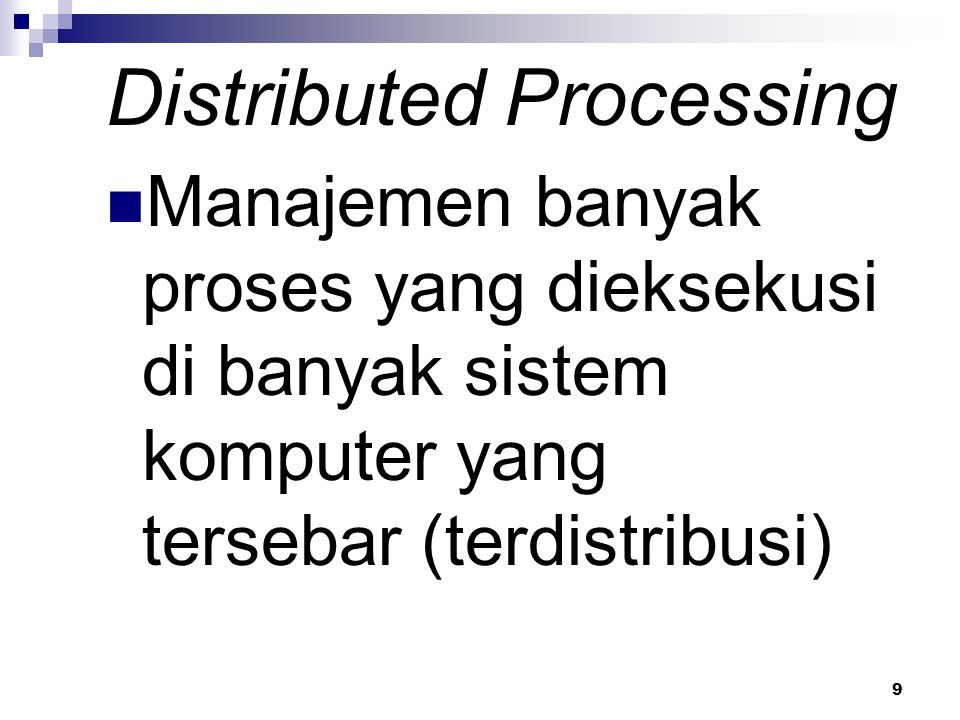 Distributed Processing