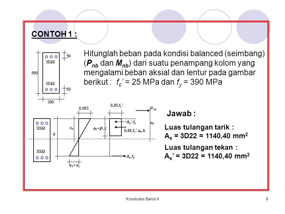 Hitunglah beban pada kondisi balanced (seimbang)
