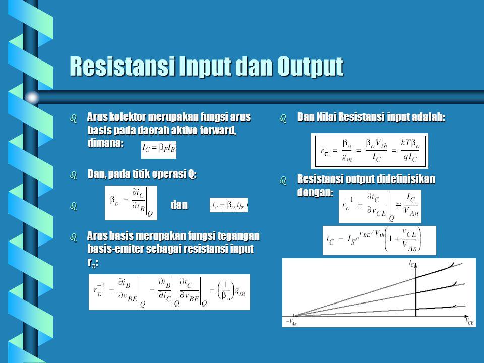 Resistansi Input dan Output