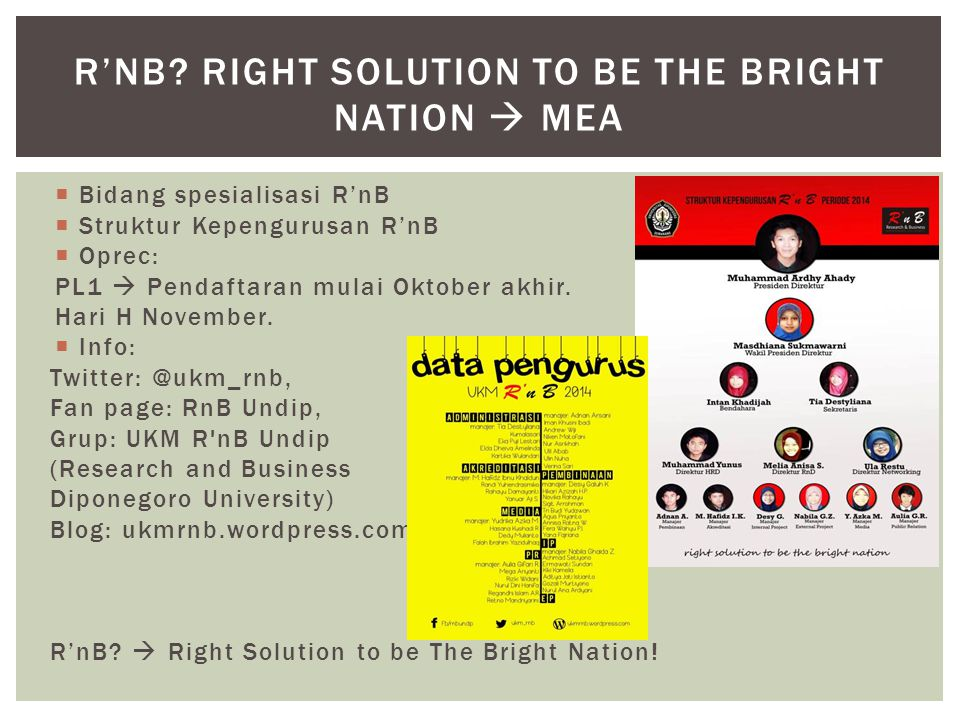 R'nB Right Solution to be The Bright Nation  MEA