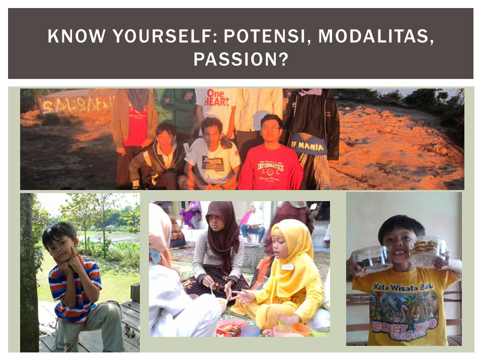 Know Yourself: Potensi, Modalitas, Passion