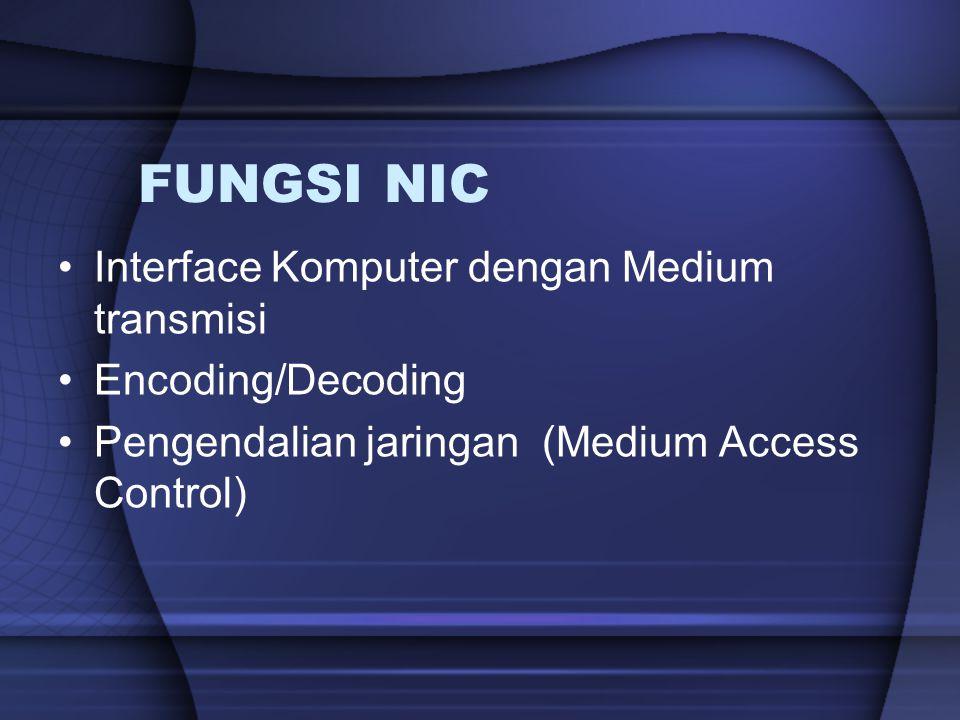 FUNGSI NIC Interface Komputer dengan Medium transmisi