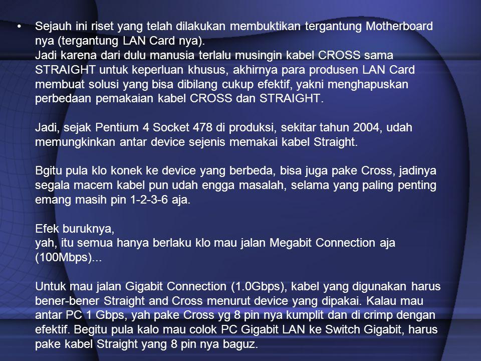 Sejauh ini riset yang telah dilakukan membuktikan tergantung Motherboard nya (tergantung LAN Card nya).