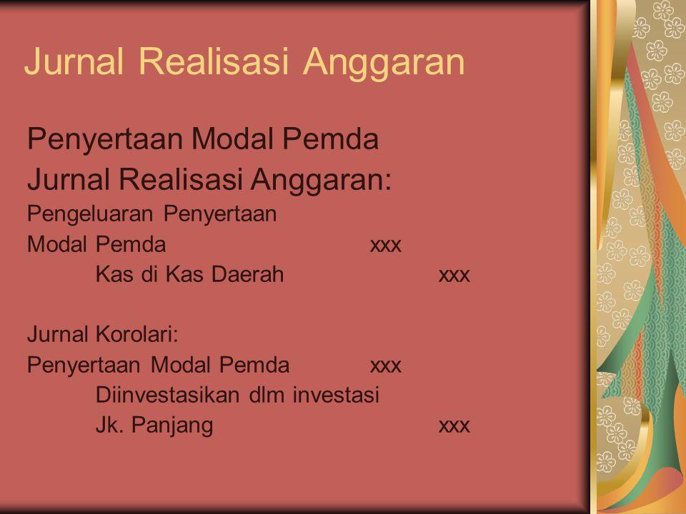 Jurnal Realisasi Anggaran
