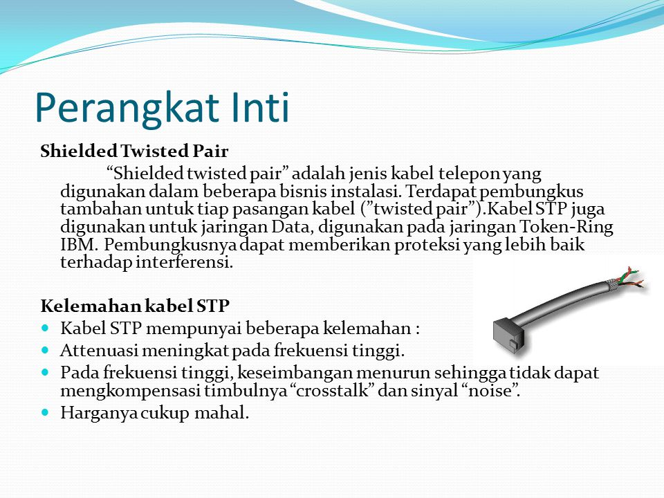 Perangkat Inti Shielded Twisted Pair