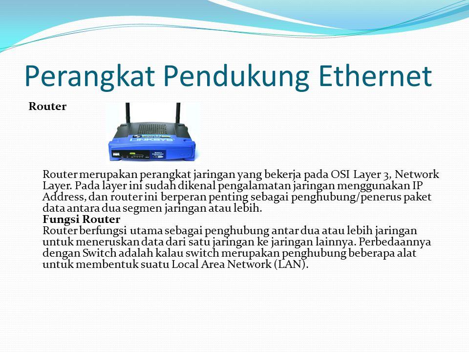 Perangkat Pendukung Ethernet