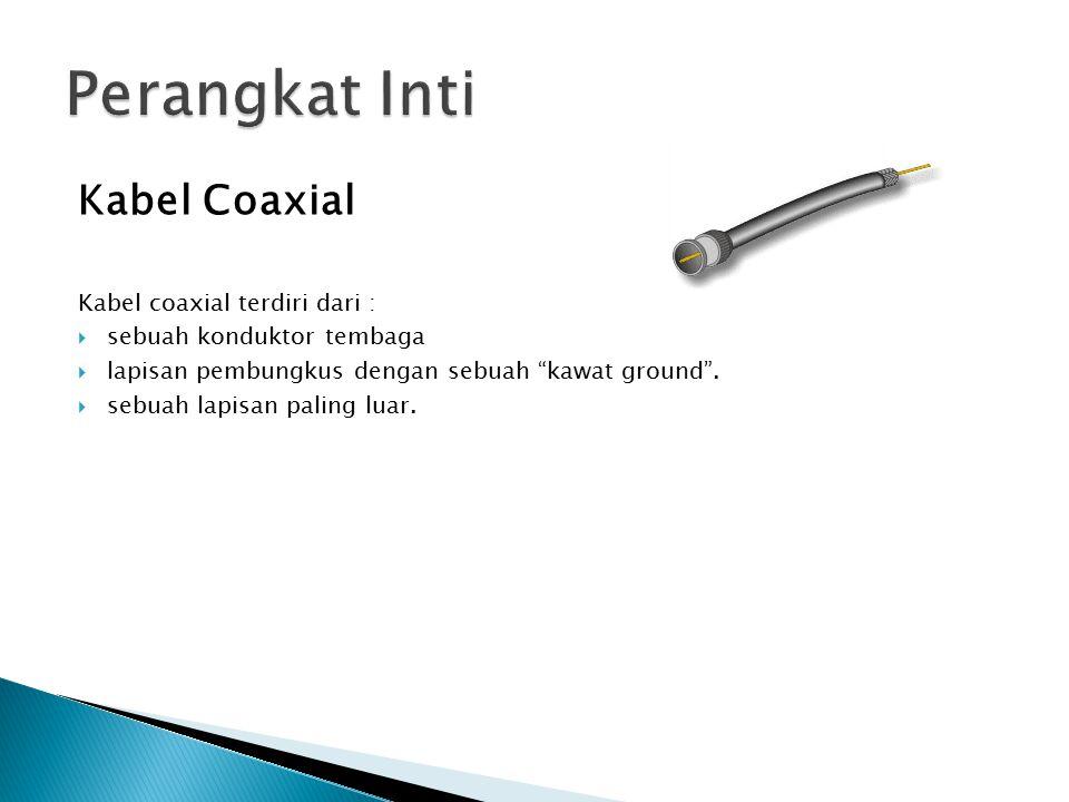 Perangkat Inti Kabel Coaxial Kabel coaxial terdiri dari :