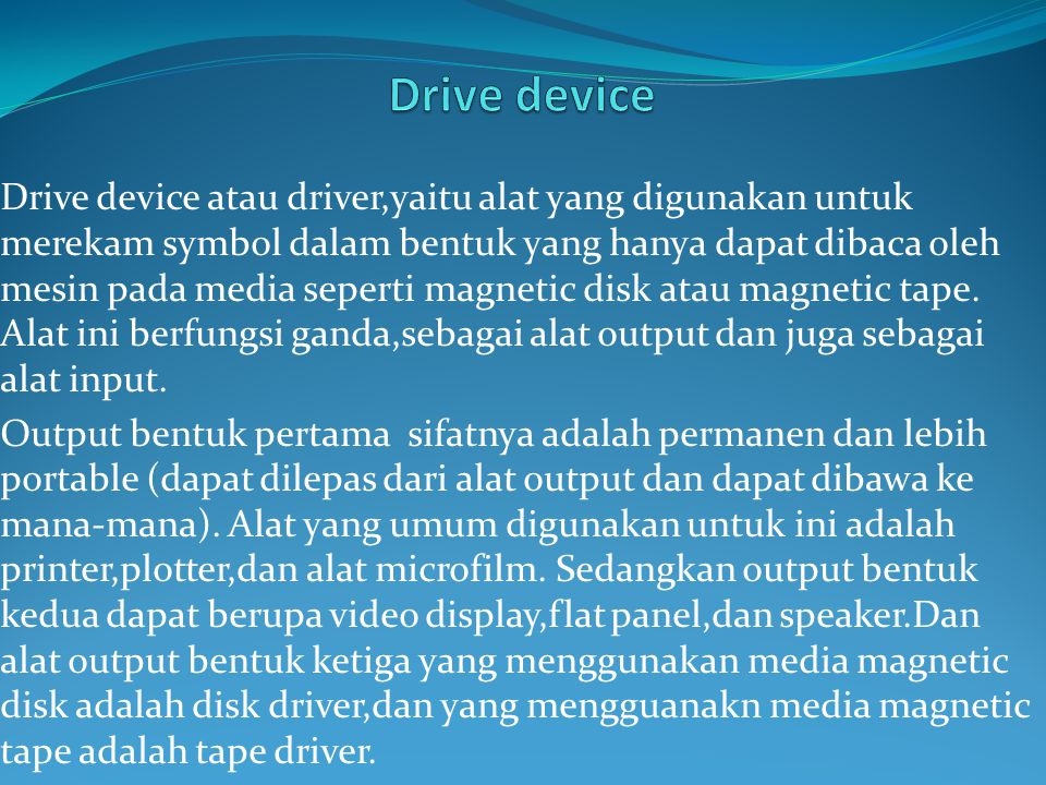 Drive device
