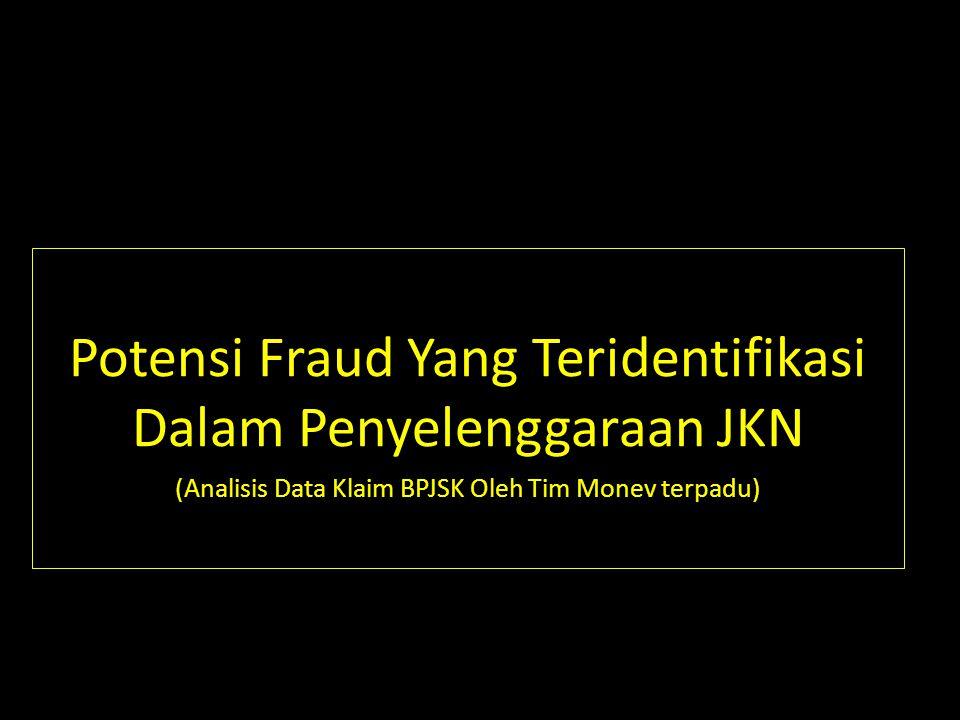 Potensi Fraud Yang Teridentifikasi Dalam Penyelenggaraan JKN (Analisis Data Klaim BPJSK Oleh Tim Monev terpadu)