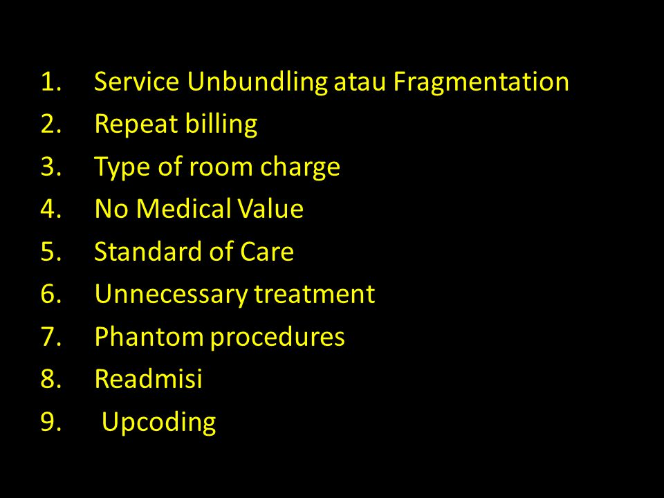 Service Unbundling atau Fragmentation