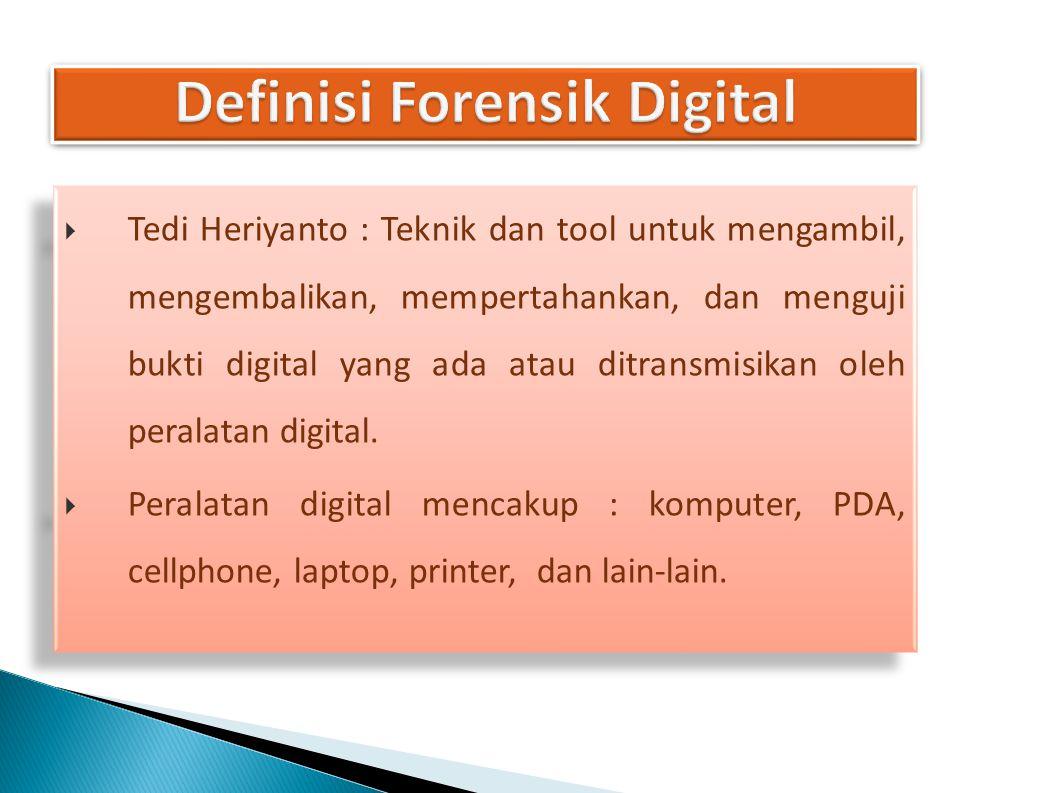 Definisi Forensik Digital