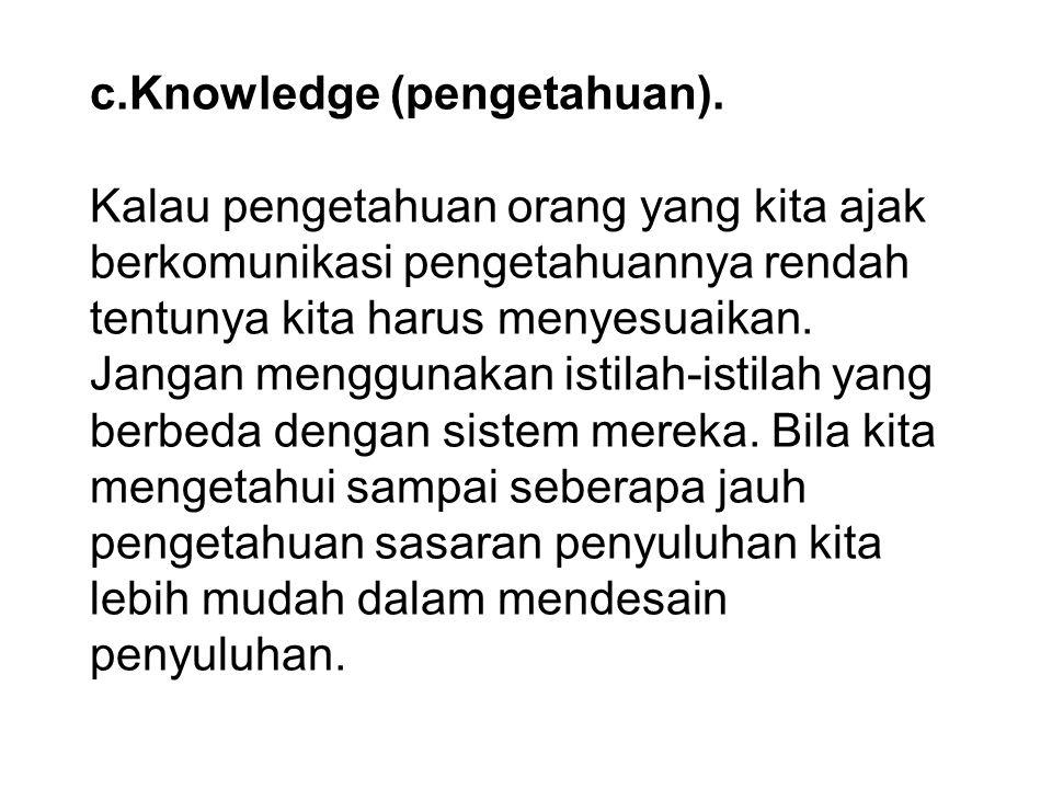 c. Knowledge (pengetahuan)