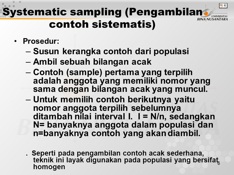 Systematic sampling (Pengambilan contoh sistematis)