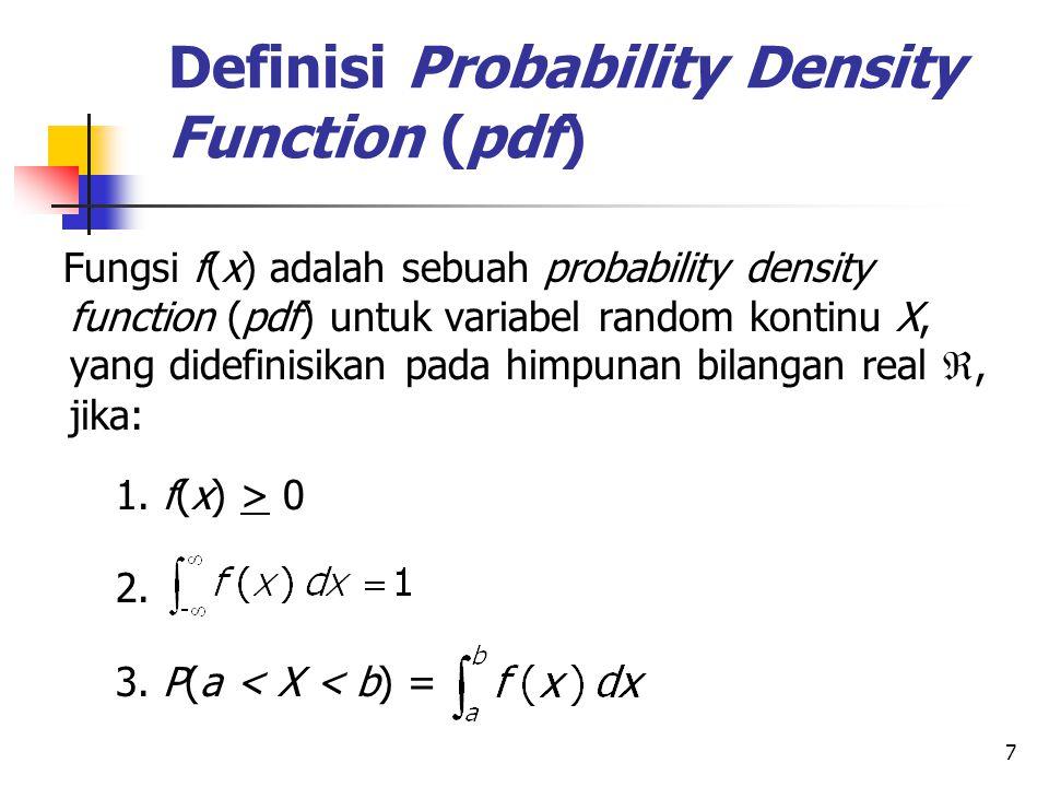 Definisi Probability Density Function (pdf)