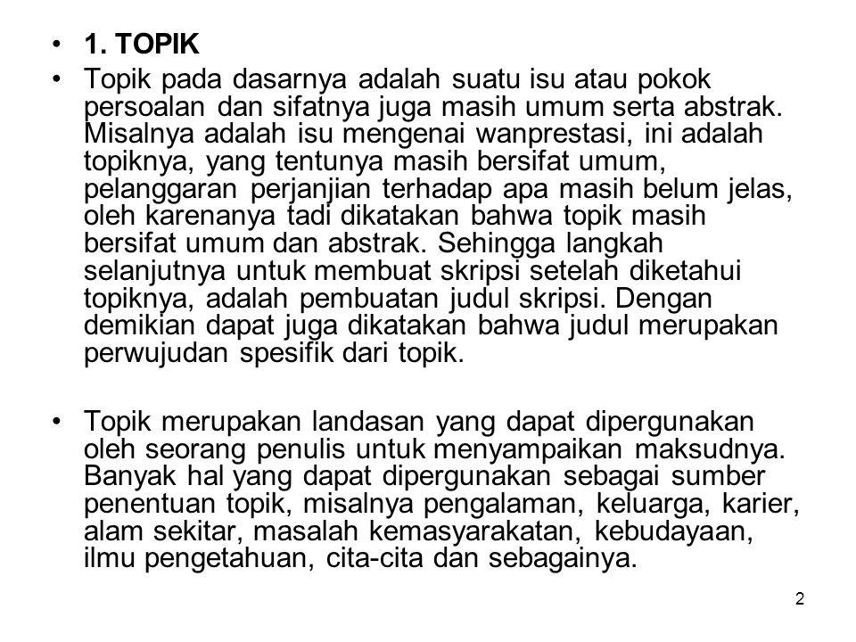 1. TOPIK