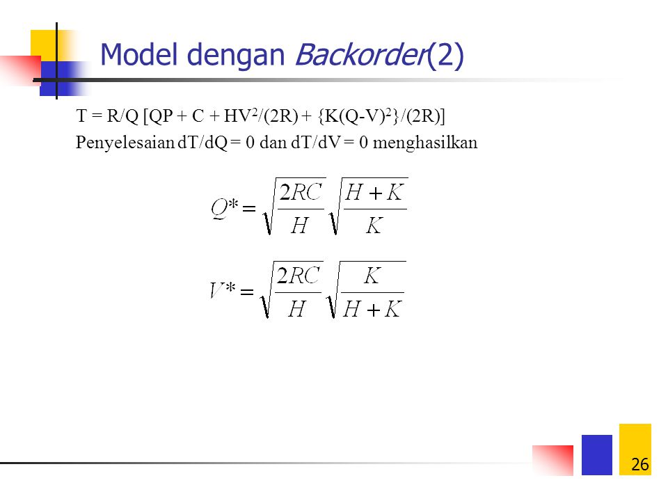 Model dengan Backorder(2)