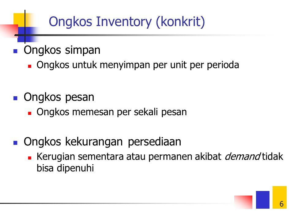 Ongkos Inventory (konkrit)