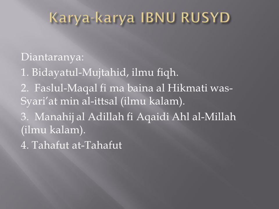 Karya-karya IBNU RUSYD