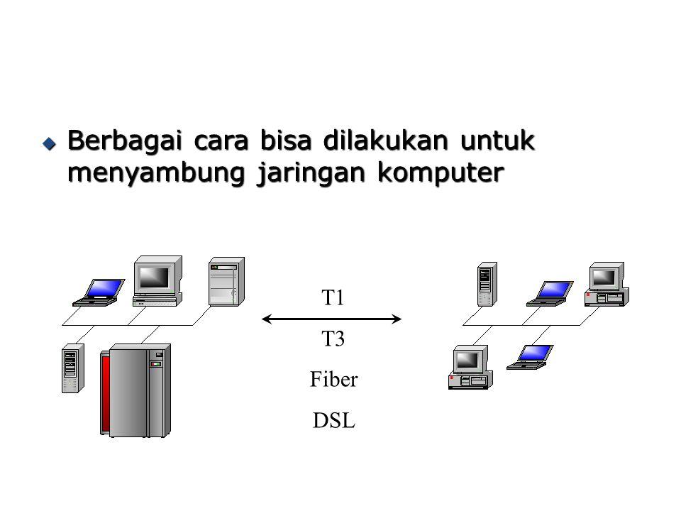 Berbagai cara bisa dilakukan untuk menyambung jaringan komputer