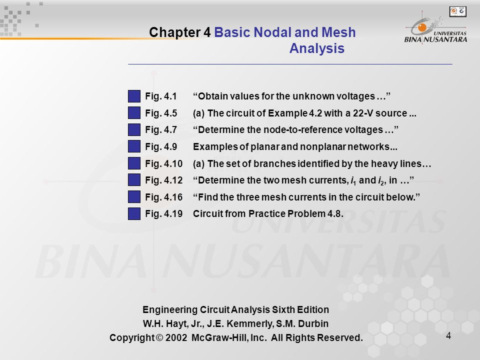 Chapter 4 Basic Nodal and Mesh Analysis