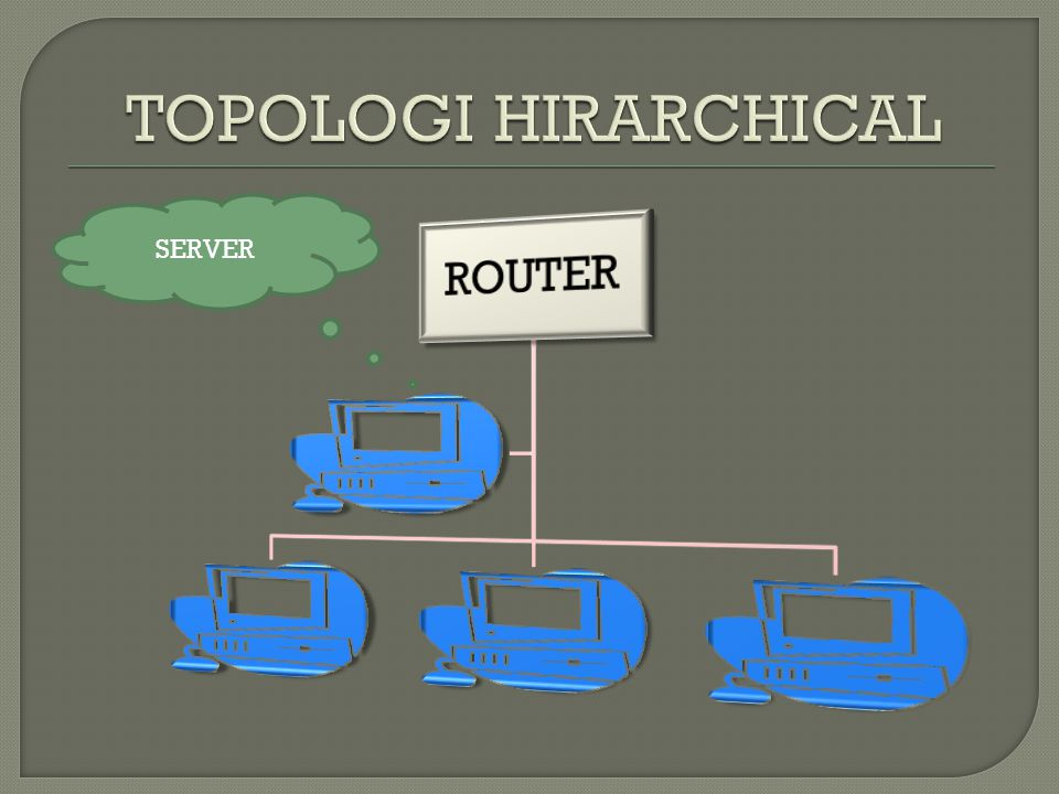 TOPOLOGI HIRARCHICAL SERVER ROUTER