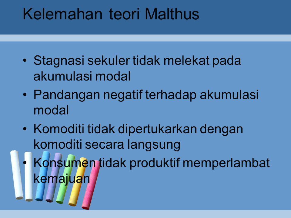 Kelemahan teori Malthus