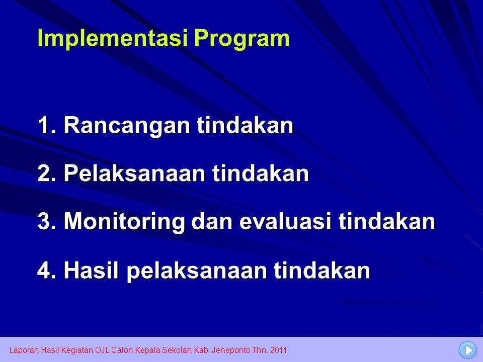 3. Monitoring dan evaluasi tindakan
