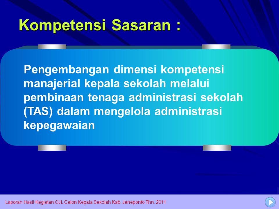 Kompetensi Sasaran :