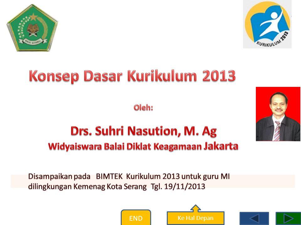 Konsep Dasar Kurikulum 2013 Widyaiswara Balai Diklat Keagamaan Jakarta