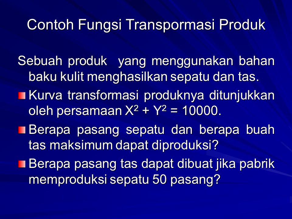 Contoh Fungsi Transpormasi Produk
