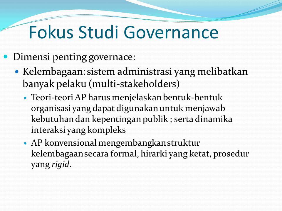 Fokus Studi Governance
