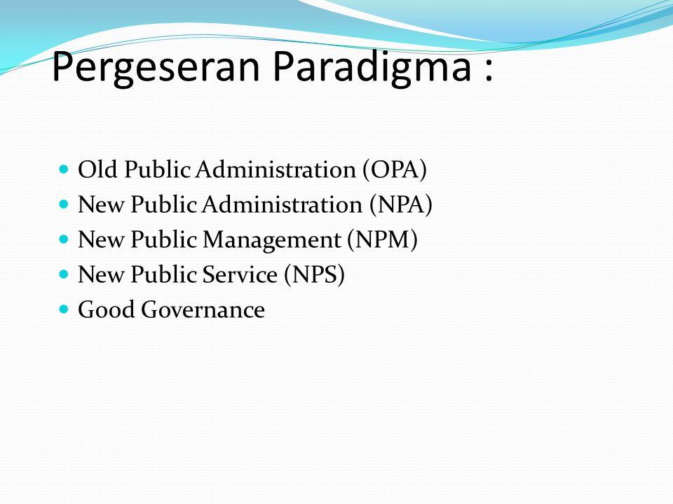 Pergeseran Paradigma :