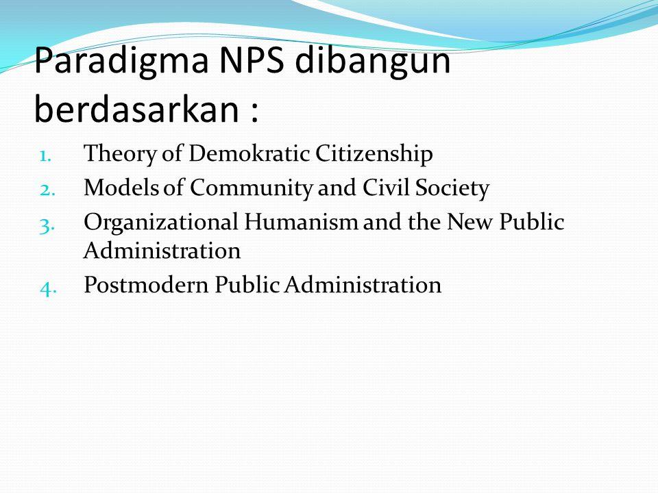Paradigma NPS dibangun berdasarkan :