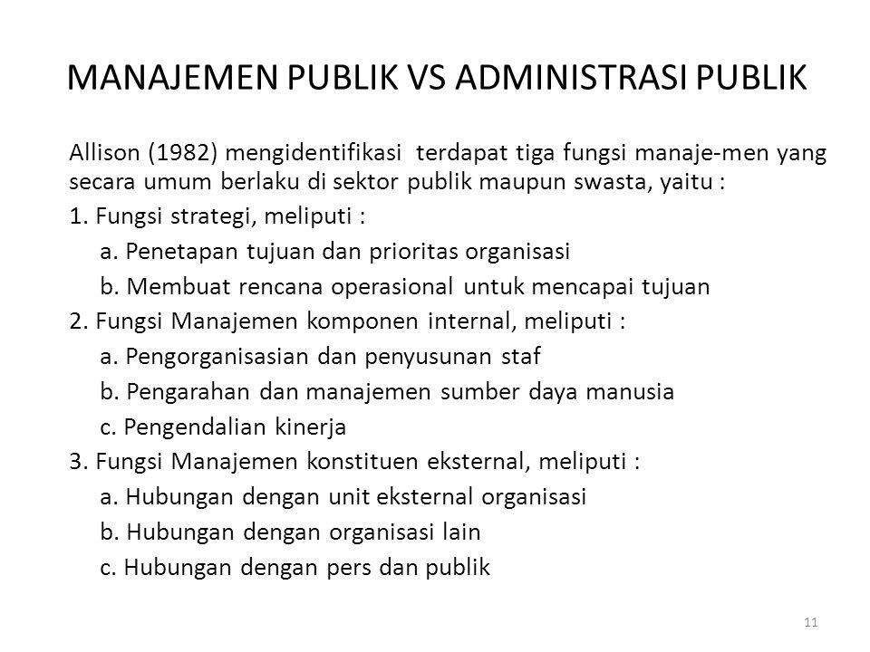 MANAJEMEN PUBLIK VS ADMINISTRASI PUBLIK