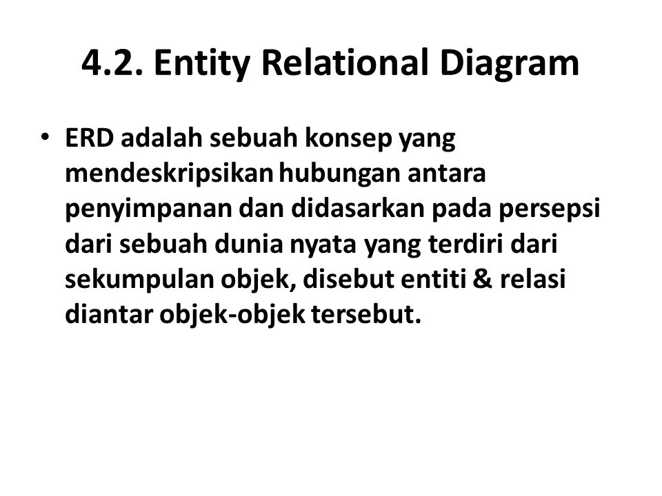 4.2. Entity Relational Diagram