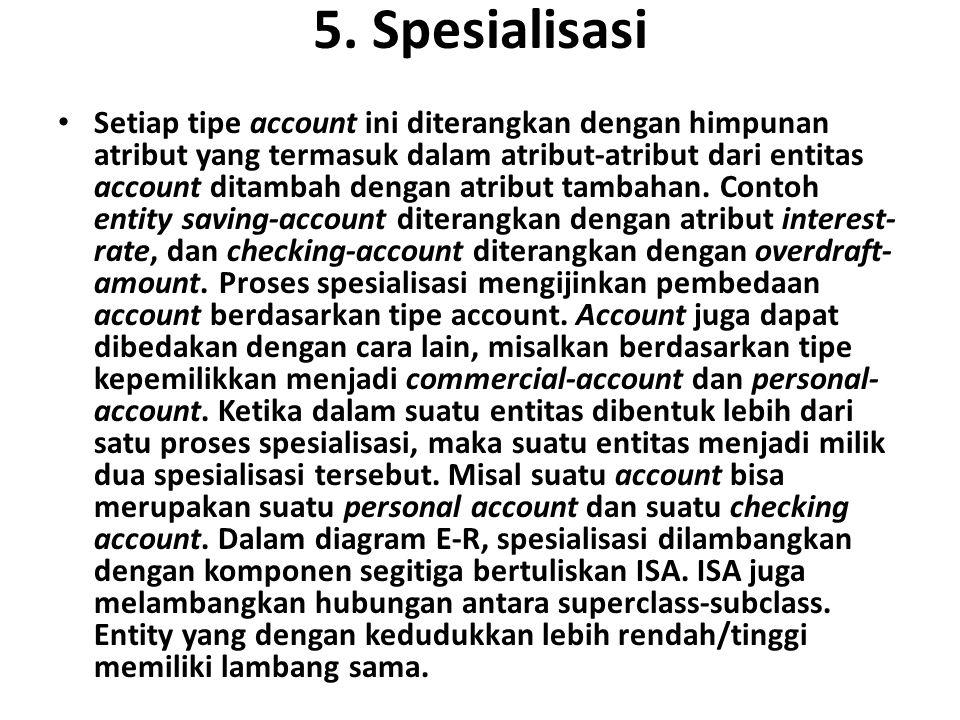5. Spesialisasi