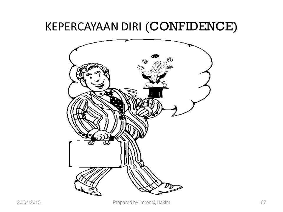 KEPERCAYAAN DIRI (CONFIDENCE)