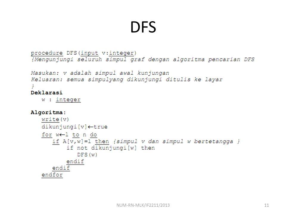 DFS NUM-RN-MLK/IF2211/2013