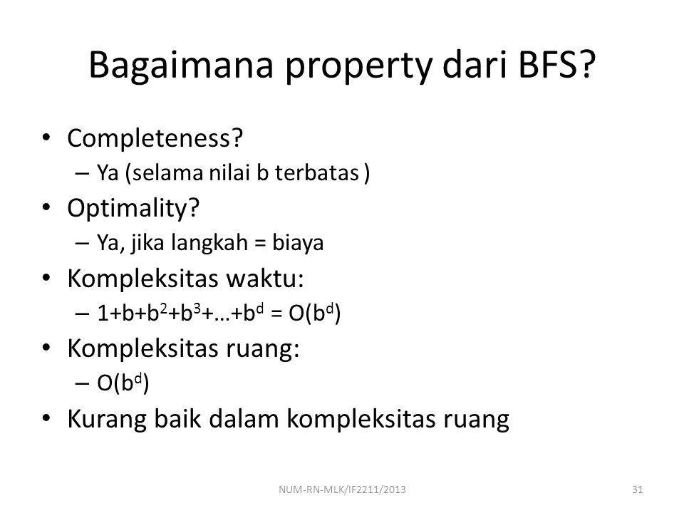 Bagaimana property dari BFS