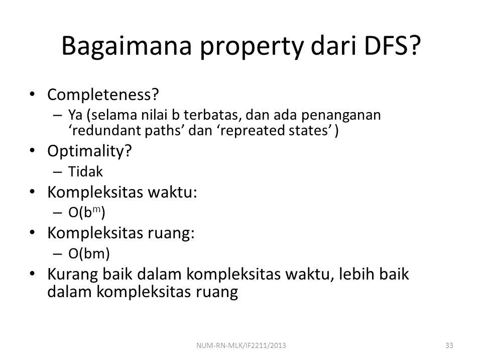 Bagaimana property dari DFS