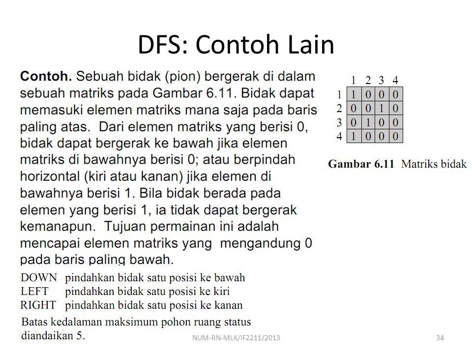 DFS: Contoh Lain NUM-RN-MLK/IF2211/2013